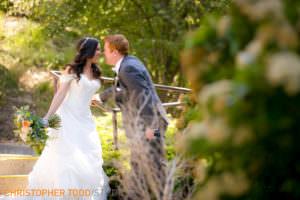 portrait of bride and groom lake arrowhead resort