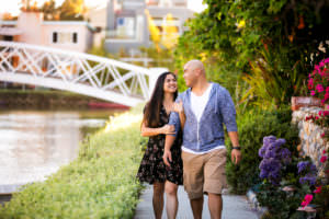 venice canals engagement pictures
