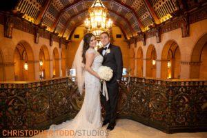 bride-&-groom-at-millennium-biltmore-hotel
