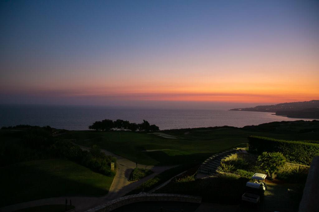 sunset photo over pacific ocean at terranea resort