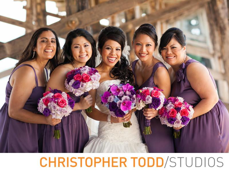 bride-bridesmaids-newport-pier