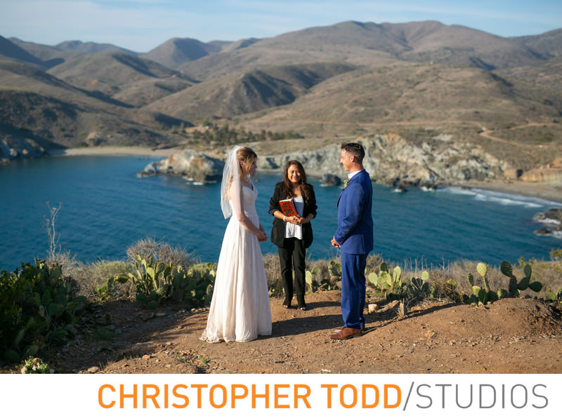 Elopement Ceremony at Little Harbor Overlook