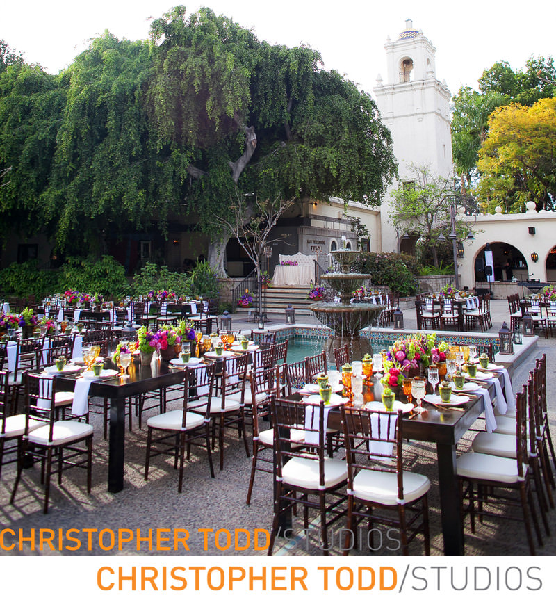 los-angeles-river-center-gardens-wedding-reception