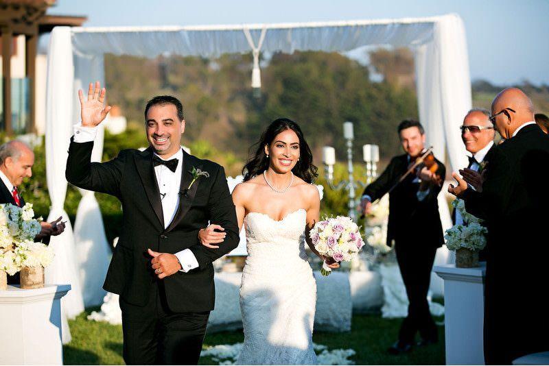 persian couple celebrated wedding ceremony