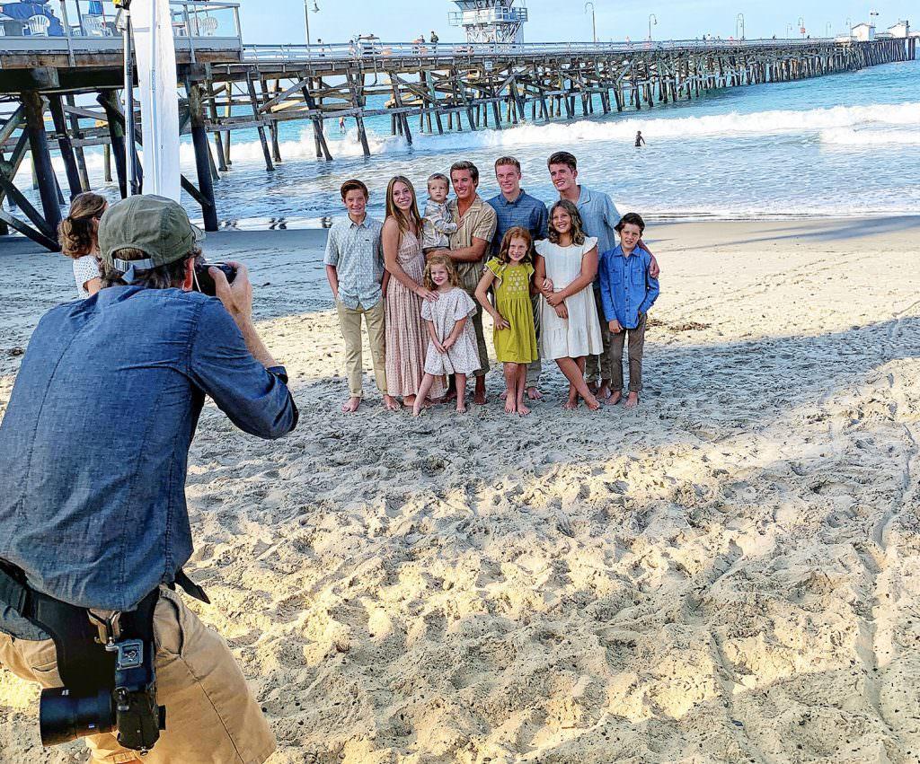 family portraits at san clemente pier