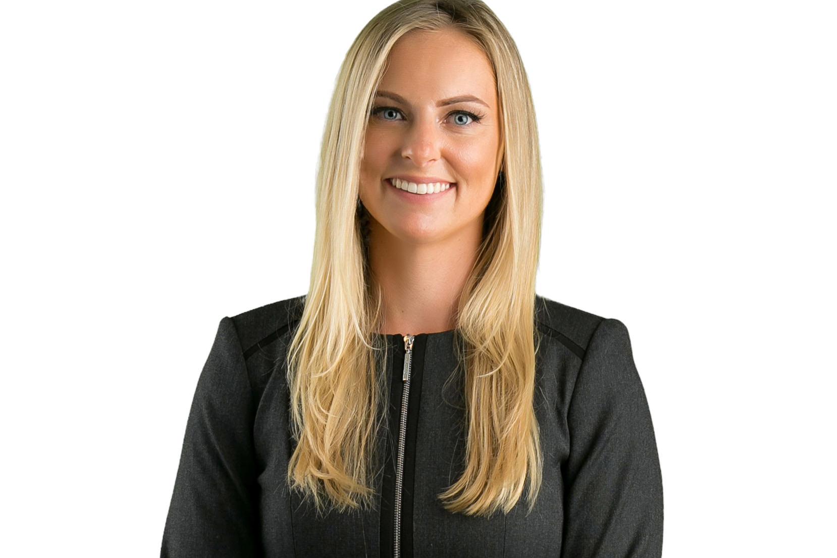 studio headshot of female attorney in orange county