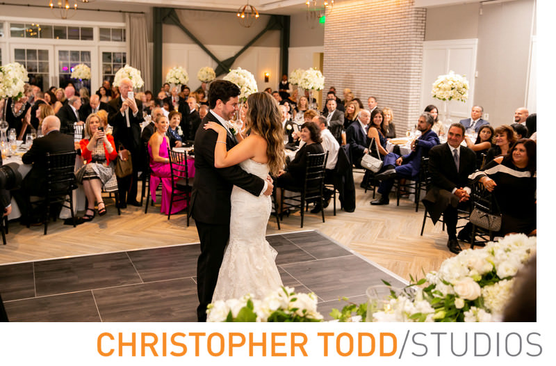 The very first wedding reception and first dance to be held at The Lido House Hotel.